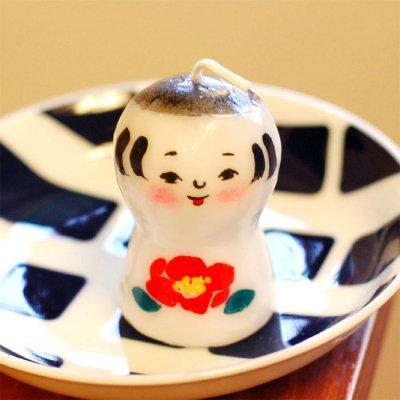 pichio candle(ピチオキャンドル) こけし椿 絵付けキャンドル