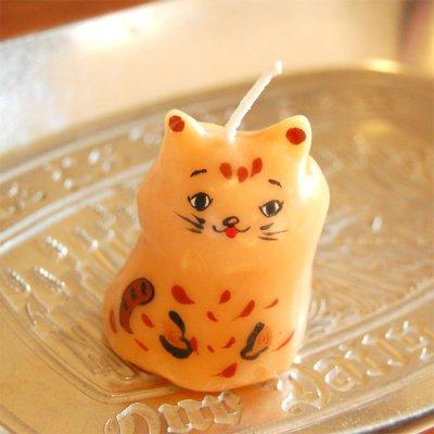 pichio candle(ピチオキャンドル) ひょっこり猫 絵付けキャンドル