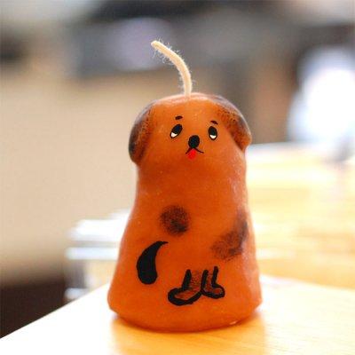 pichio candle(ピチオキャンドル) 茶色い犬 絵付けキャンドル