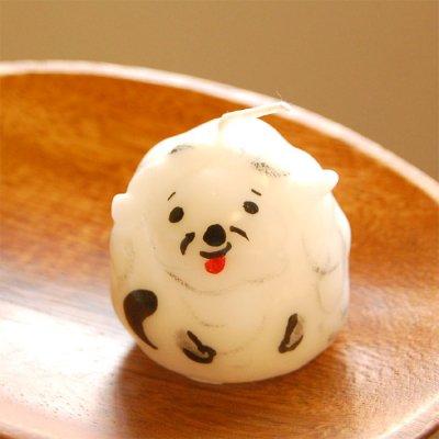 pichio candle(ピチオキャンドル) 白い犬 絵付けキャンドル