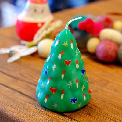 pichio candle(ピチオキャンドル) クリスマスツリー 絵付けキャンドル