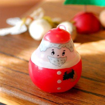 pichio candle(ピチオキャンドル) サンタクロース 絵付けキャンドル