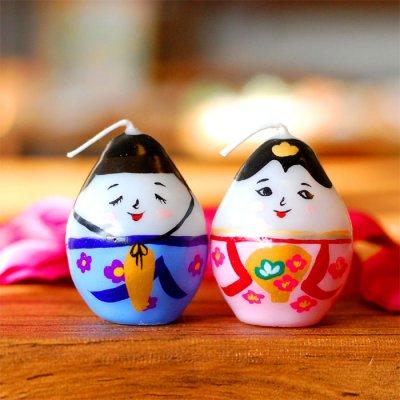 pichio candle(ピチオキャンドル) ひなまつり 絵付けキャンドル