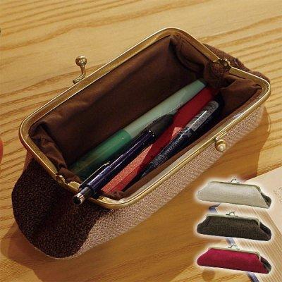 coron ペンポーチ 化粧ポーチ シンプル ふでばこ 筆箱 ペンケース