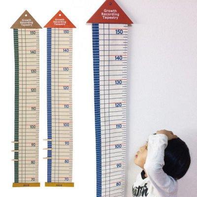 ファブリック 身長計 子供部屋 キッズ 成長の記録 インテリア