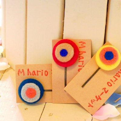 M hario マーケット(エムハリオマーケット) 羊毛カラフル丸々ヘアピン