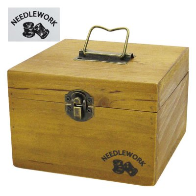 NEEDLEWORK ウッドソーイングボックス(S)