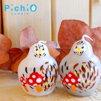 pichio candle(ピチオキャンドル) フクロウ 絵付けキャンドル