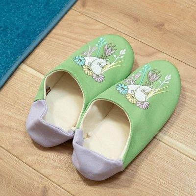 MOOMIN(ムーミン) 刺繍入りルームシューズ 北欧おしゃれ&かわいい部屋で履けるスリッパ