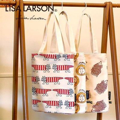 LISA LARSON(リサラーソン) パターン帆布トートバッグ 北欧風のおしゃで&かわいいトート バッグ