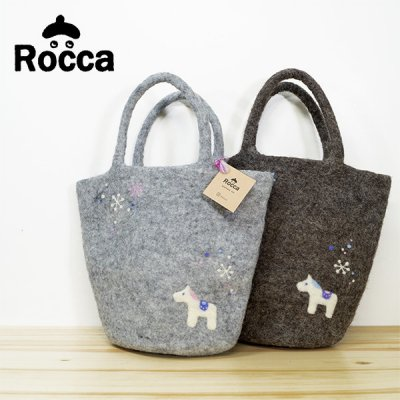 Rocca(ロッカ) 六花 フェルトバッグ 北欧風のおしゃで&かわいいトートバッグ