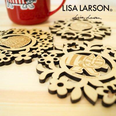 LISA LARSON(リサラーソン) 木製コースター