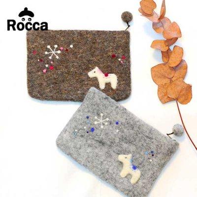 Rocca(ロッカ) 六花 フェルトポーチ 北欧デザインのかわいいフェルト地バッグ