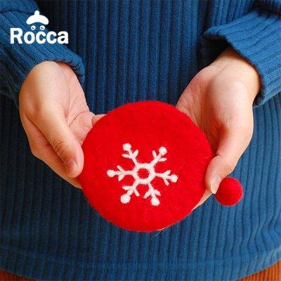 Rocca(ロッカ) 結晶柄フェルト地のコインケース レディース 小物入れ