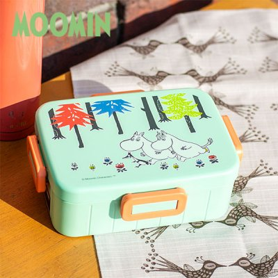 MOOMIN(ムーミン) ムーミンフォレスト 4点ロック ランチボックス 650ml 電子レンジ対応の日本製お弁当箱