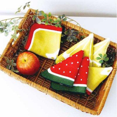 フルーツタオルハンカチ コットン100% パイル フルーツ 果物