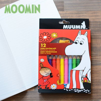 MOOMIN(ムーミン) 12色ジャンボ色鉛筆 北欧おしゃれ&かわいいお絵かきセット