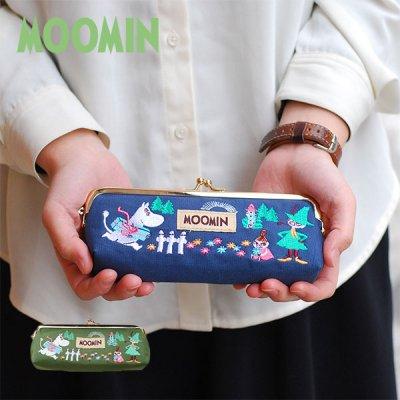 MOOMIN(ムーミン) がま口 刺繍 ペンケース 北欧おしゃれ&かわいい筆箱