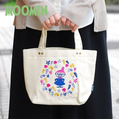 MOOMIN(ムーミン) 刺繍ランチバッグ レディースのかわいい小さめトートバッグ