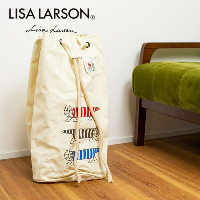 LISA LARSON(リサラーソン) ウォークイン マイキー ランドリーバック 北欧おしゃれ&かわいい洗濯バッグ