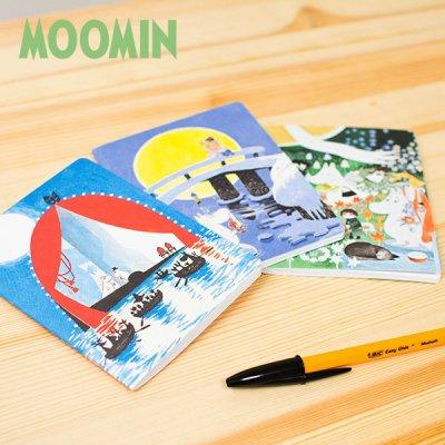 MOOMIN(ムーミン) Putinki ミニノートブック 北欧おしゃれ&かわいい小さい無地ノート