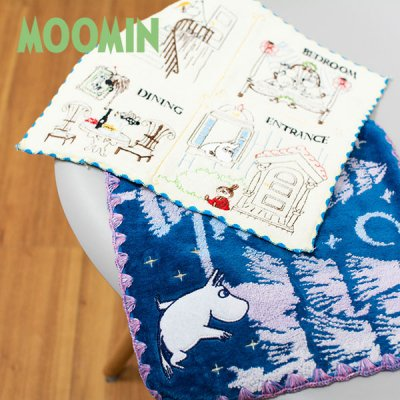 MOOMIN(ムーミン) 丸眞 ミニ刺繍タオル 北欧おしゃれ&かわいいハンドタオル
