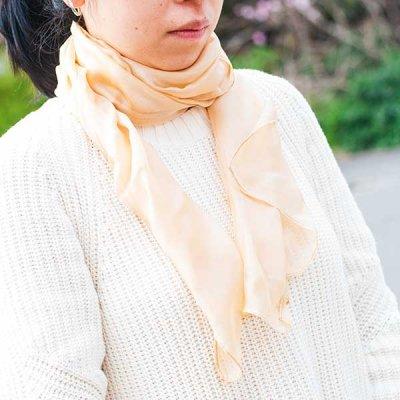 宮崎あゆみ(みやざきあゆみ) シルク ストール レディース大人風の綺麗めストール