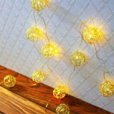 2WAY LEDフラッシュライト ワイヤーボール ゴールド