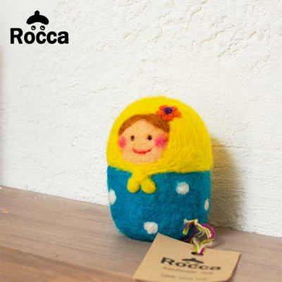 Rocca(ロッカ) フェルト マトリョーシカの置物 カラフルでかわいいフェルトのオブジェ