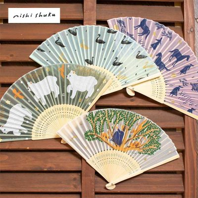 cozyca products(コジカプロダクツ) シルク扇子 西淑・AIKO FUKAWA 夏に爽やかな女性におすすめの扇子