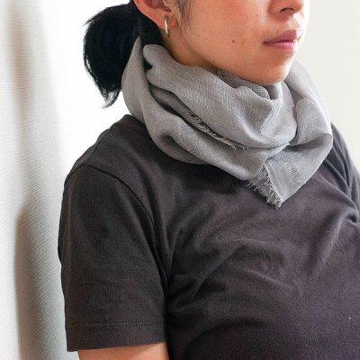 宮崎あゆみ(みやざきあゆみ) 藍染めストール レディース大人風の綺麗めストール