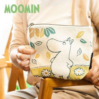 MOOMIN(ムーミン) ゴブラン織りフラットポーチ ゴブラン織りの小物入れや化粧ポーチとして