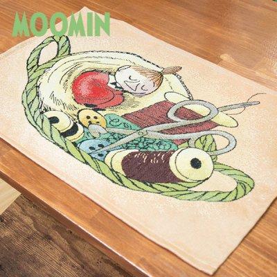 MOOMIN(ムーミン) ゴブラン織りランチョンマット リトルミイかごの中で 絵のように美しいテーブルマット