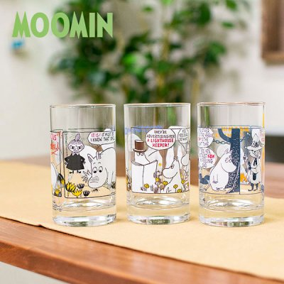 MOOMIN(ムーミン) コミックス ストレート タンブラー 可愛いムーミンのガラスタンブラー
