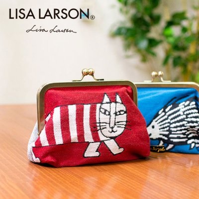 LISA LARSON(リサラーソン) ゴブラン織り口金ポーチ 可愛くてお洒落なゴブラン織りポーチ