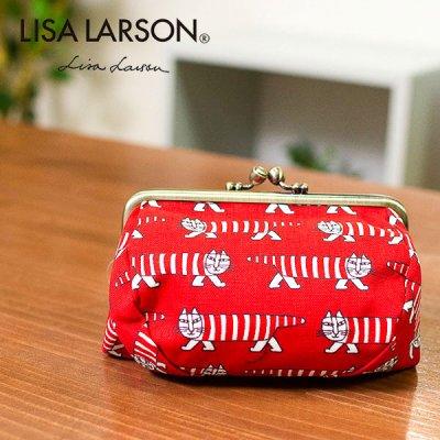 LISA LARSON(リサラーソン) マチ付き口金ポーチ マイキーがデザインされたたっぷり入るポーチ