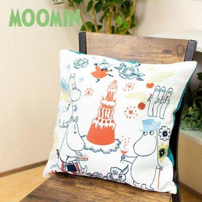 MOOMIN(ムーミン) ムーミン バレーズパーティー ゴブラン織りクッションカバー 45×45cm