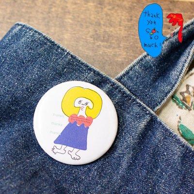 uRiiiy(ウリ) カラフルで可愛い バッジ 可愛いキャラクターのうりうりうりぃさん缶バッチ