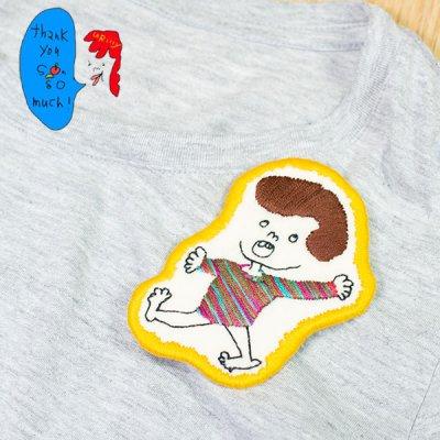 uRiiiy(ウリ) カラフルで可愛い 刺繍 ブローチ  刺繍ブローチシリーズのゴリ子さんブローチ