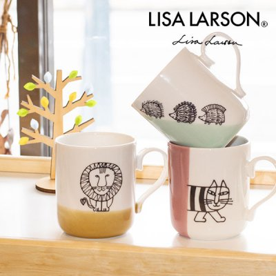 LISA LARSON(リサラーソン) マグカップ 300ml ティータイムが楽しくなるマグカップ