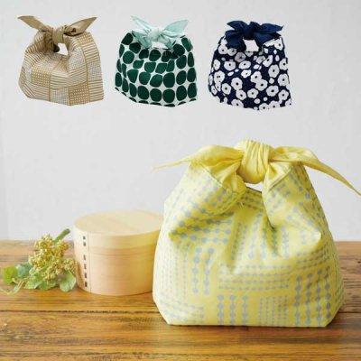 knot ランチバッグ お弁当入れ/コットン/モダン/シルバーコーティング