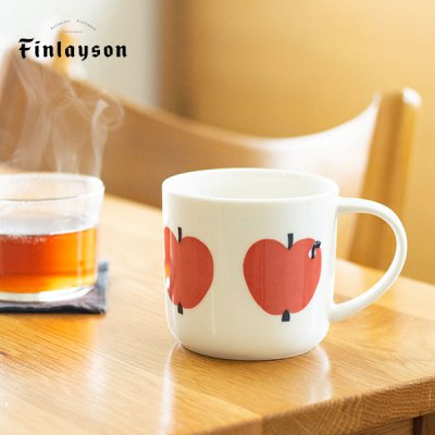 Finlayson(フィンレイソン) hauskaマグカップ テキスタイルブランのお洒落なマグカップ
