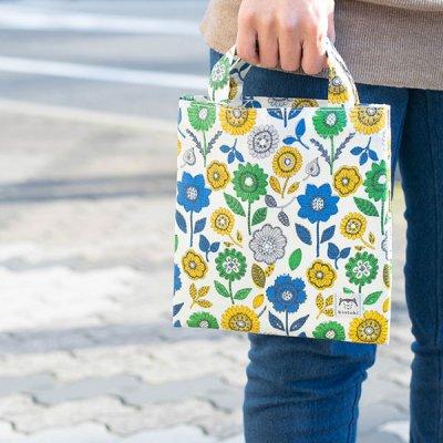 kintoki(キントキ) 可愛い花柄の汚れにくいラミネート加工のミニバッグ サブバックとして使いやすいミニバ