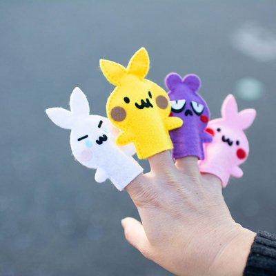 おおはらつかさ(オオハラツカサ) フェルトで作った可愛い指人形セット お子様も喜ぶ可愛さの指人形