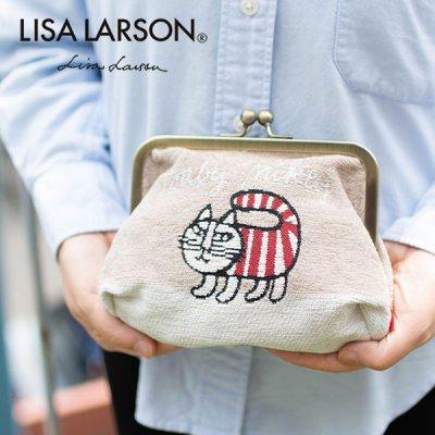 LISA LARSON(リサラーソン) マイキーゴブラン織り口金ポーチ 小物入れや化粧ポーチとして♪