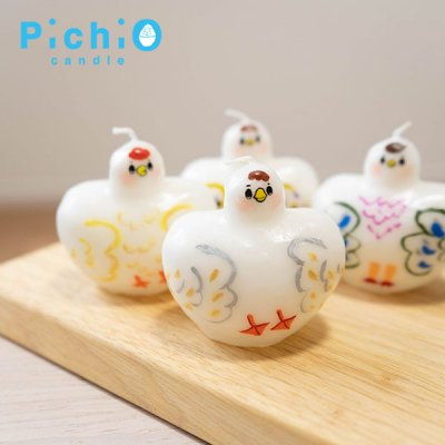 ☆pichio candle(ピチオキャンドル) 絵付けボリューミー鳥シリーズキャンドル