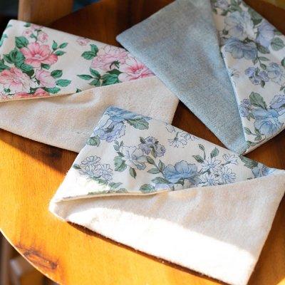 ☆kyoko(キョウコ)花柄と無地の生地を使った上品なポケットティッシュケース