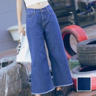 韓国 ファッション パンツ ボトムス 春 夏 カジュアル PTX2627  ワイド ガウチョ バギー デニム 無地 系 オルチャン シンプル 定番 セレカジ