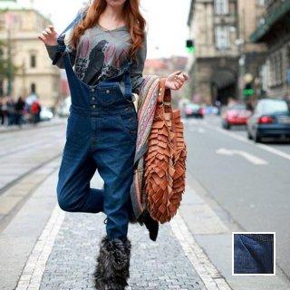 韓国 ファッション パンツ デニム ジーパン ボトムス 秋 冬 カジュアル PTX3877  オールインワン サロペット パンツ Gパン ロング ウォッシュ加工 オルチャン シンプル 定番 セレカジ