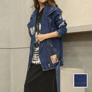 韓国 ファッション アウター ジャケット 春 秋 冬 カジュアル PTX5063  ダメージ ライダース ショート オルチャン シンプル 定番 セレカジ